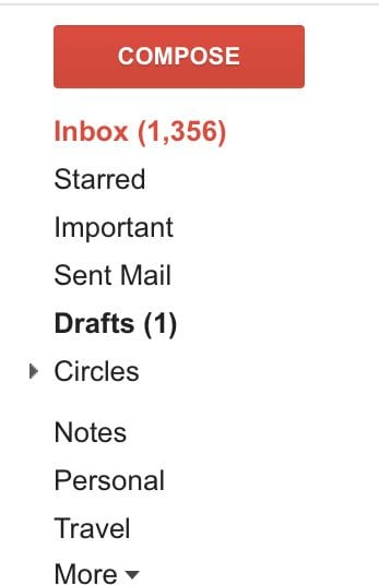 My Email, It was at over 10K but there was the Great Purge.
