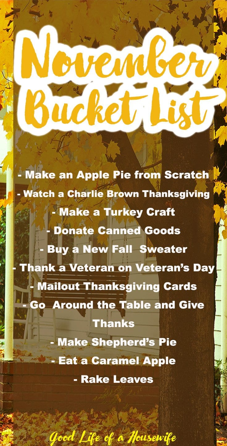 Let's not fast forward to Christmas just yet. Here are 26 fun things you have to do this November. November Bucket List