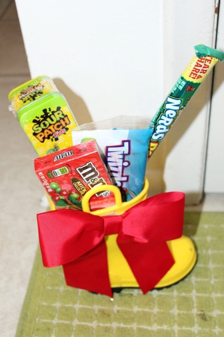 Fill up a boot with Candy for a special Christmas Tradition