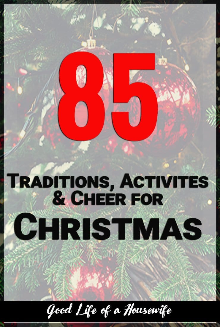 Looking for items to put on your Christmas bucket list? Here are 85 things for you do this Christmas season!