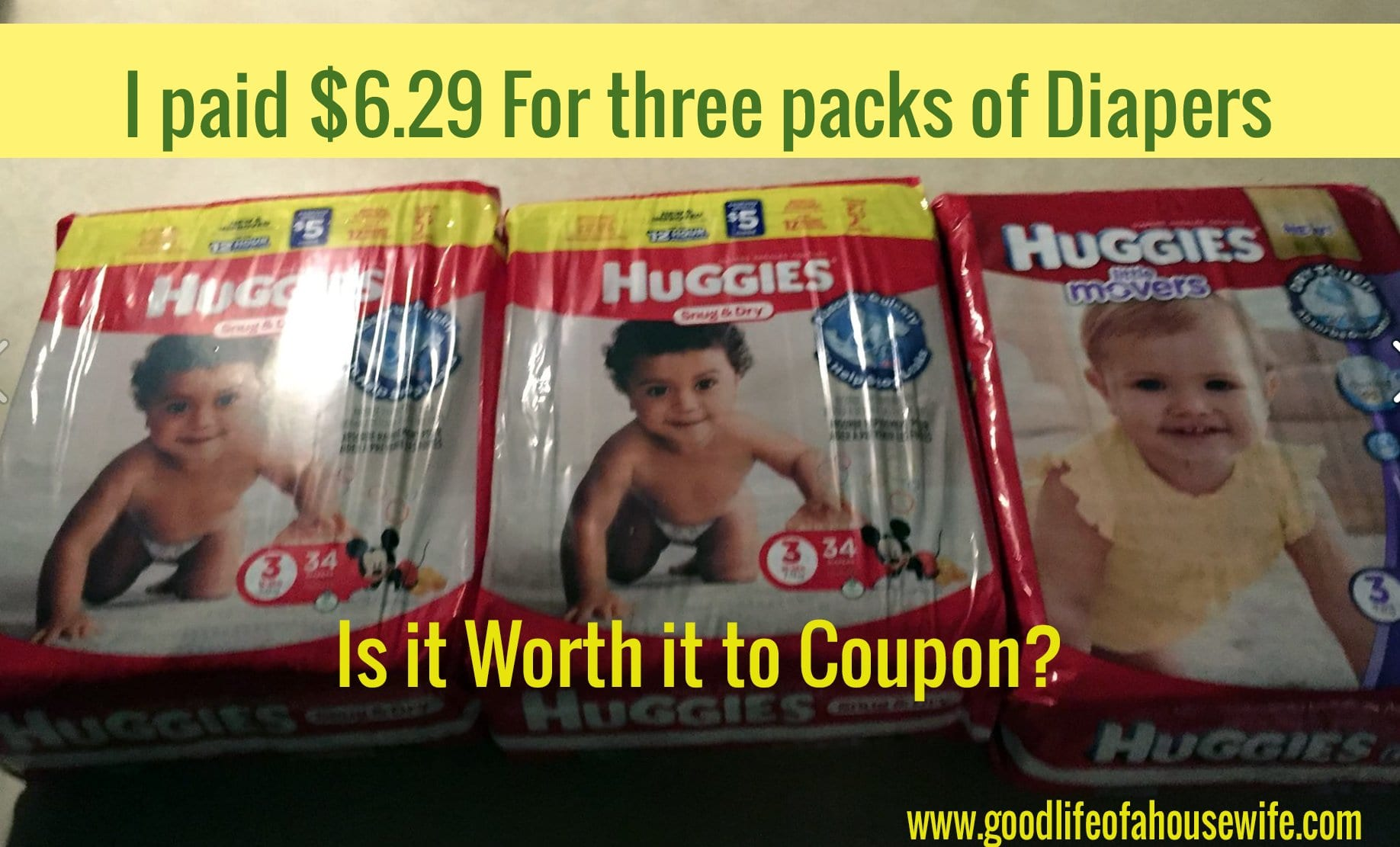 How to get deals on Diapers www.goodlifeofahousewife.com