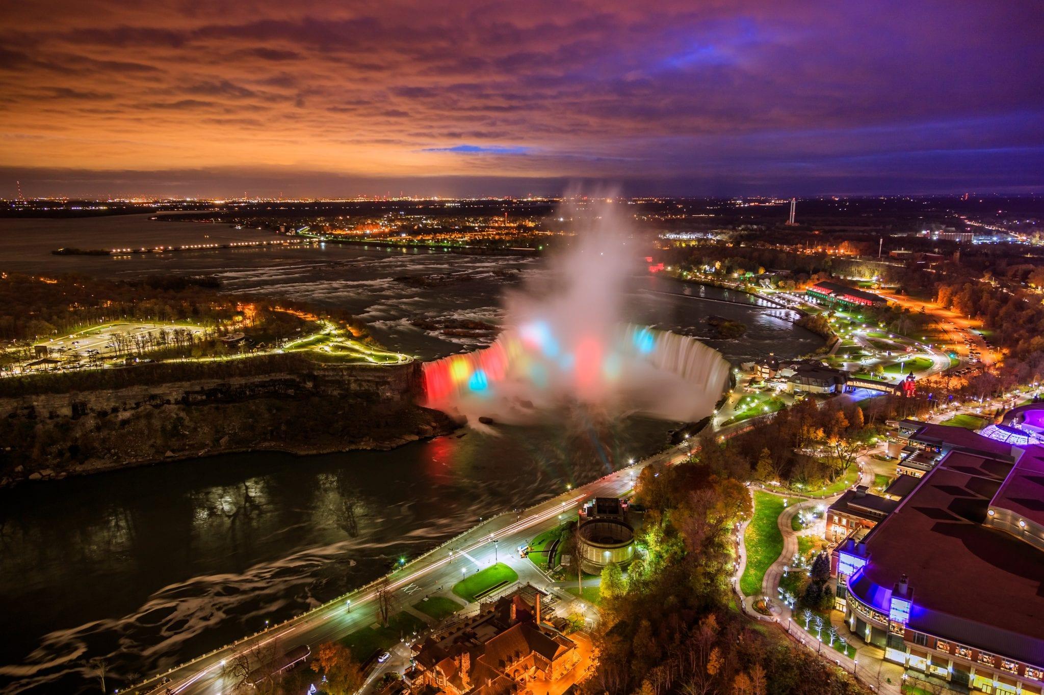 Wanderlust | Good Life of a Housewife Niagara Falls | Maid of the mist Boat Tour Niagara Falls | Bird View of Niagara Falls Canada and America during sunset