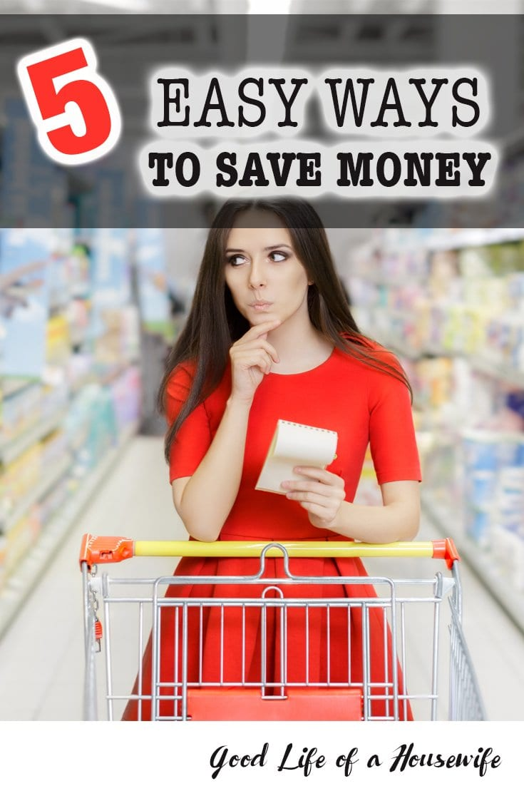 Five easy ways to save money in your everyday life. Saving money does not have to be complicated.
