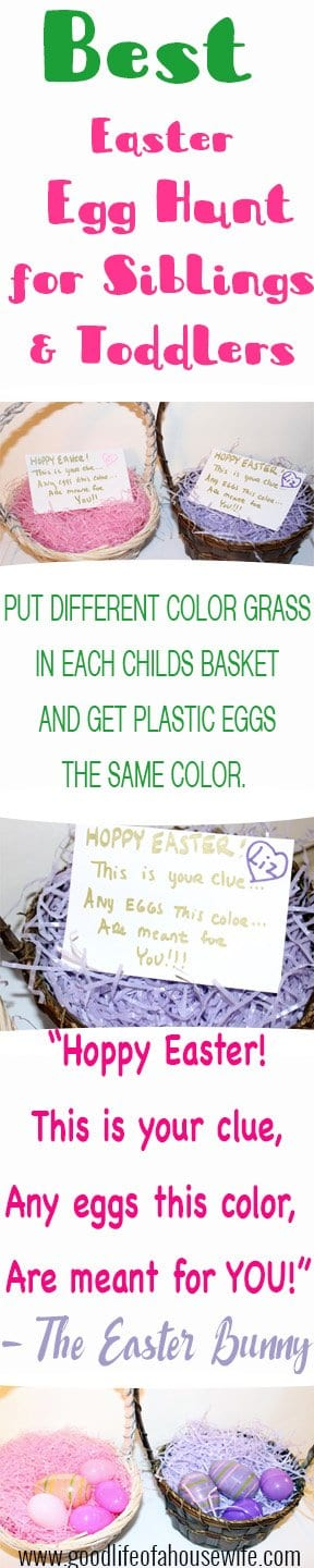 Best Easter Egg Hunt idea for little kids. Good Life of a Housewife