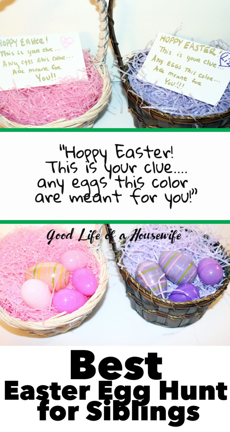 Make Easter egg hunts more fun for toddlers and siblings by assigning each kid their own color grass and eggs to find.