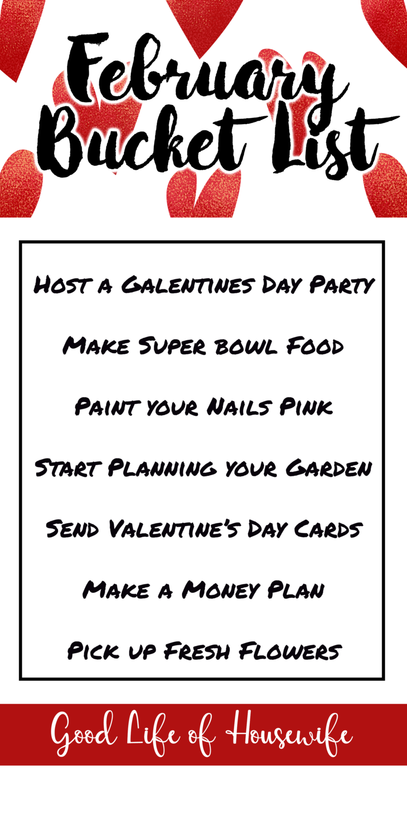 February Bucket List #February #februarybucketlist #valentine'sday