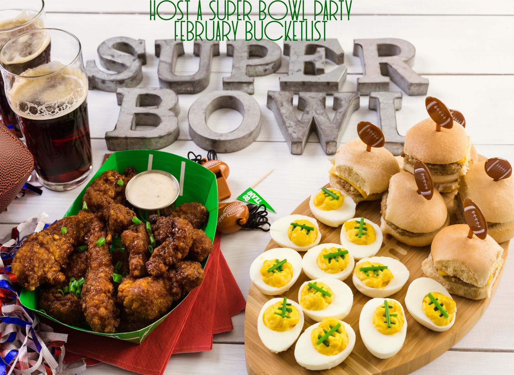 Super Bowl Party | February Bucket List | Good Life of a Housewife
