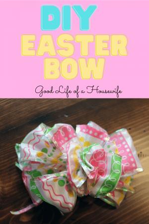 DIY Easter Basket Bow