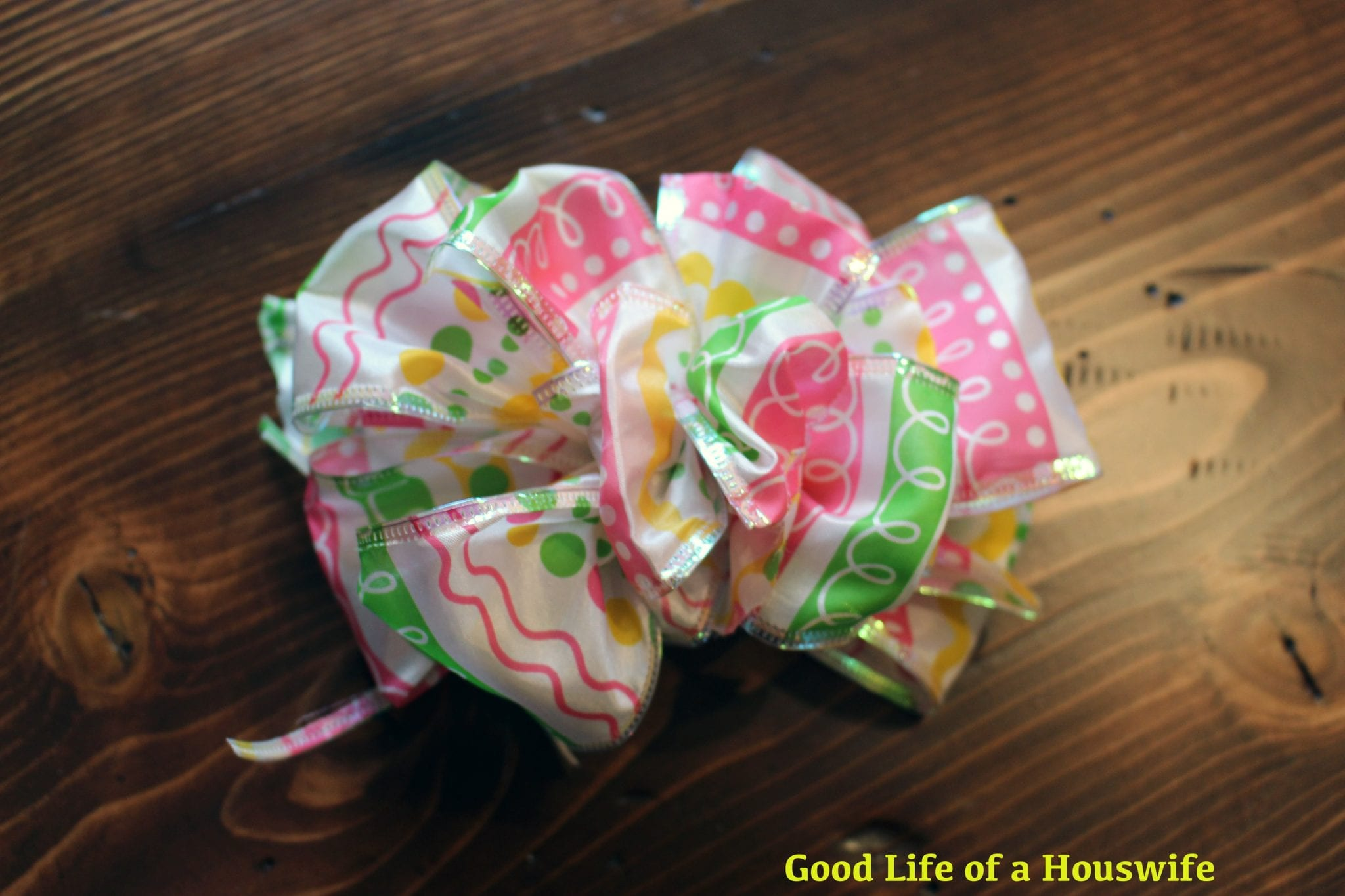 Gorgeous DIY Easter Basket Bow