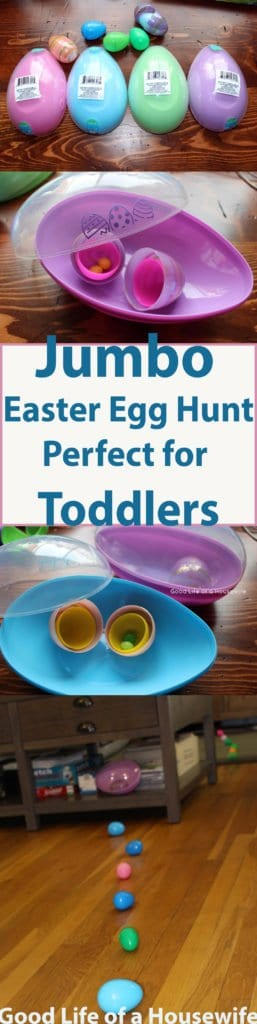 Giant Eggs, Best Toddler Easter Egg Hunt | Good Life of a Housewife | www.goodlifeofahousewife.com