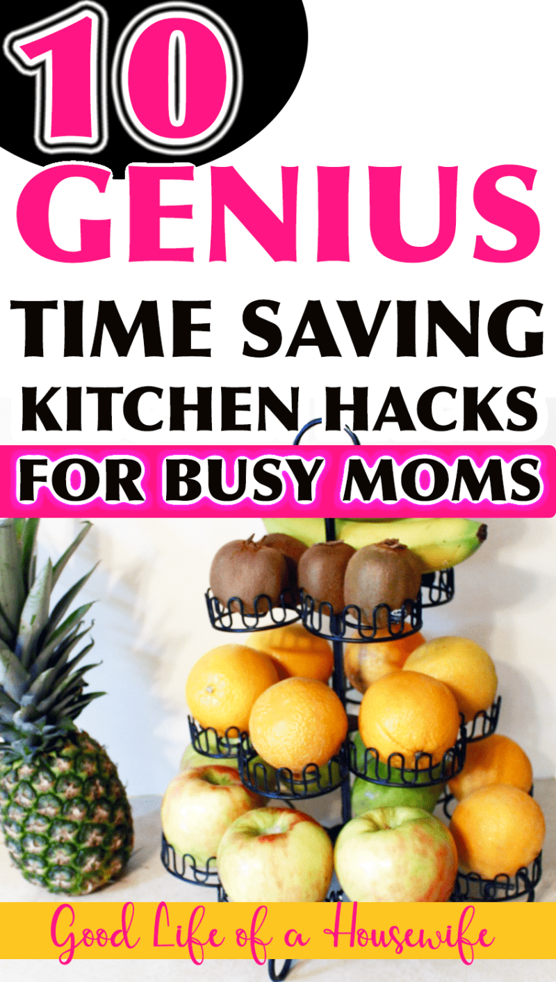 10 GENIUS TIME SAVING KITCHEN HACKS FOR BUSY MOMS #springclean #cleaning #busymoms