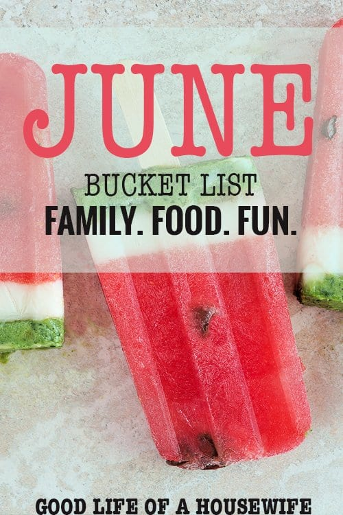 June, You're Perfect: Bucket List