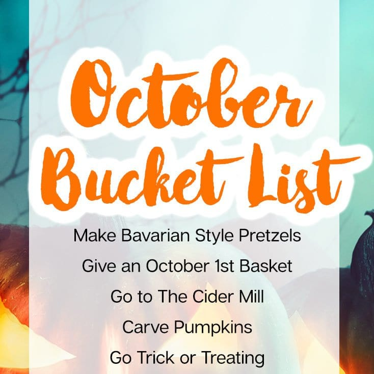 October bucket list
