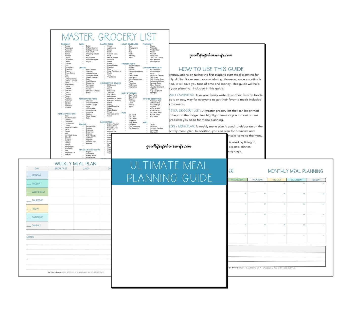 Ultimate Guide to Meal Planning Printables