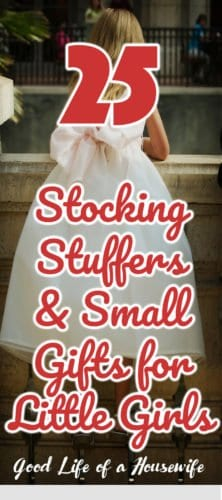 25 Stocking Stuffers & Small Gifts for Little Girls | Stocking Stuffers and Small Gifts for little Girls 5-8 years old #stockingstuffersforlittlegirls