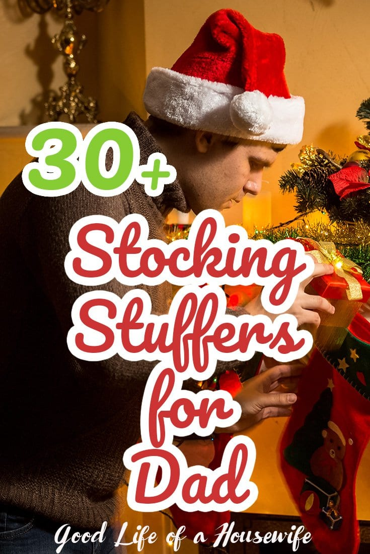 Stocking Stuffer and Gift Ideas for Dad | Gift Ideas for Men | Mens Stocking Stuffers| Stocking Stuffers for Dad | Concert Tickets Sporting Event Tickets  Sports Memorabilia A Bottle Opener Socks Magazines Sporting Gear Electric Razor Cologne Mini Liquor Bottles A Groupon for an Outing Undershirts DVDs Lottery Tickets Nuts Wallet Tools Belt Buckles Comb Gift Cards Phone Charger