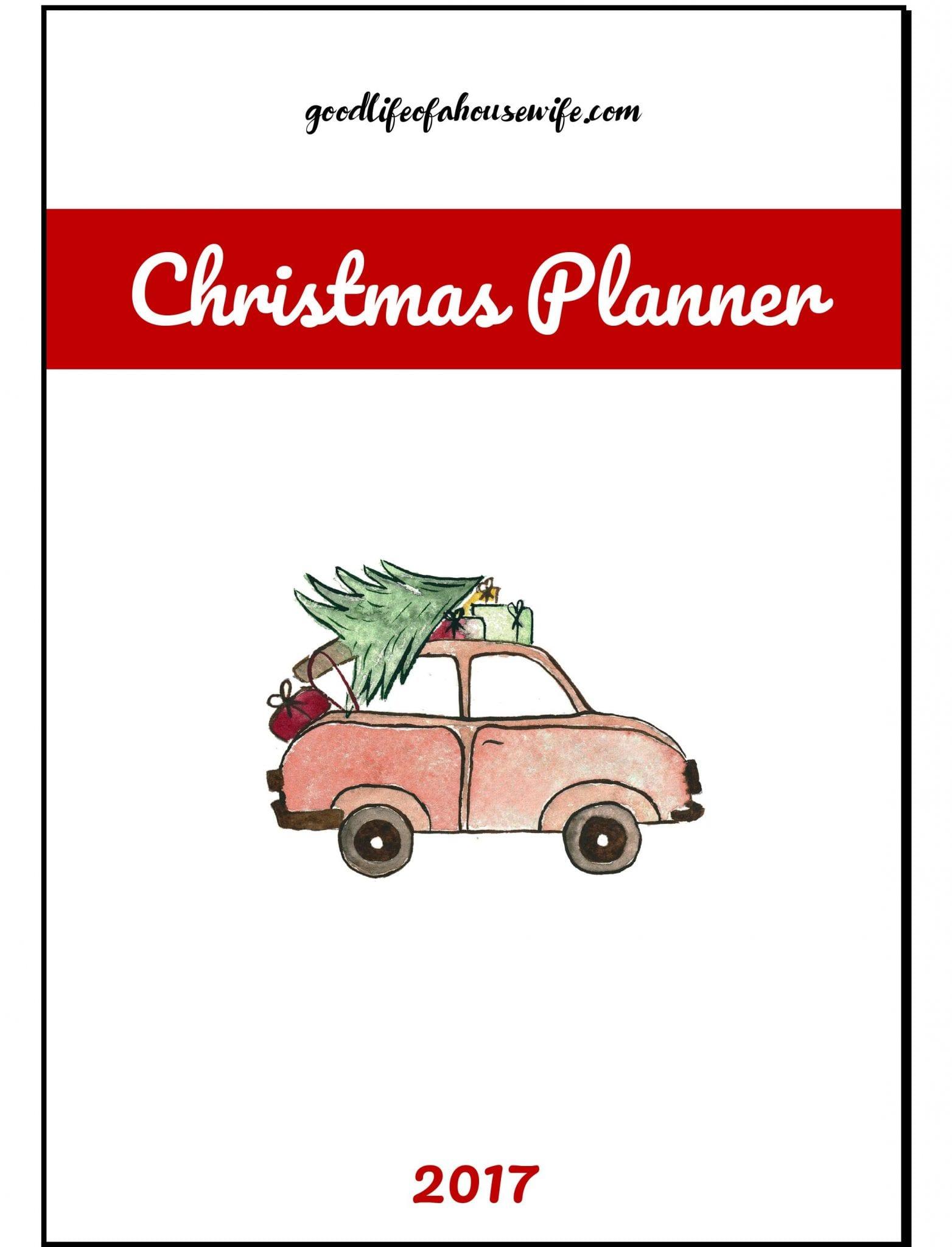 2017 Christmas planner [free printable]