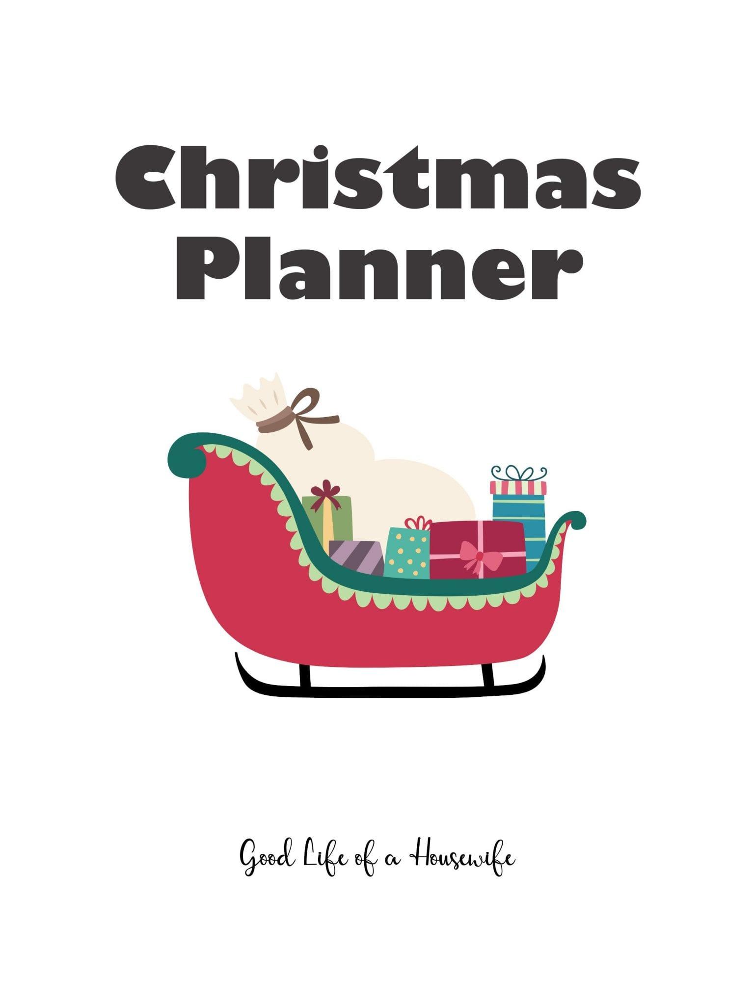 2019 Christmas planner [free printable]