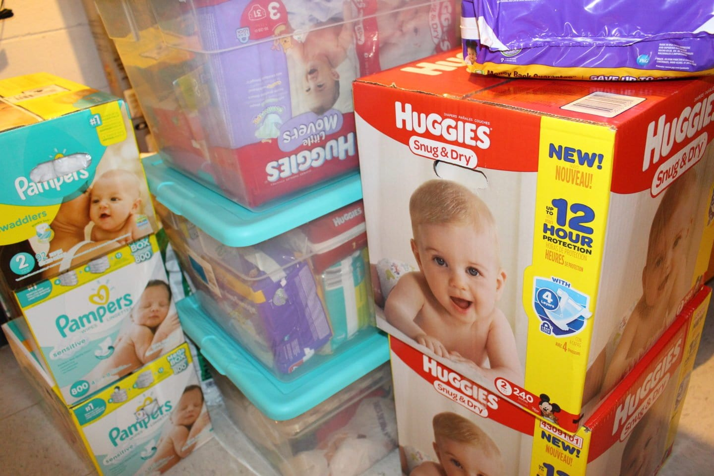 Different ways to accumulate diapers before your baby is born.