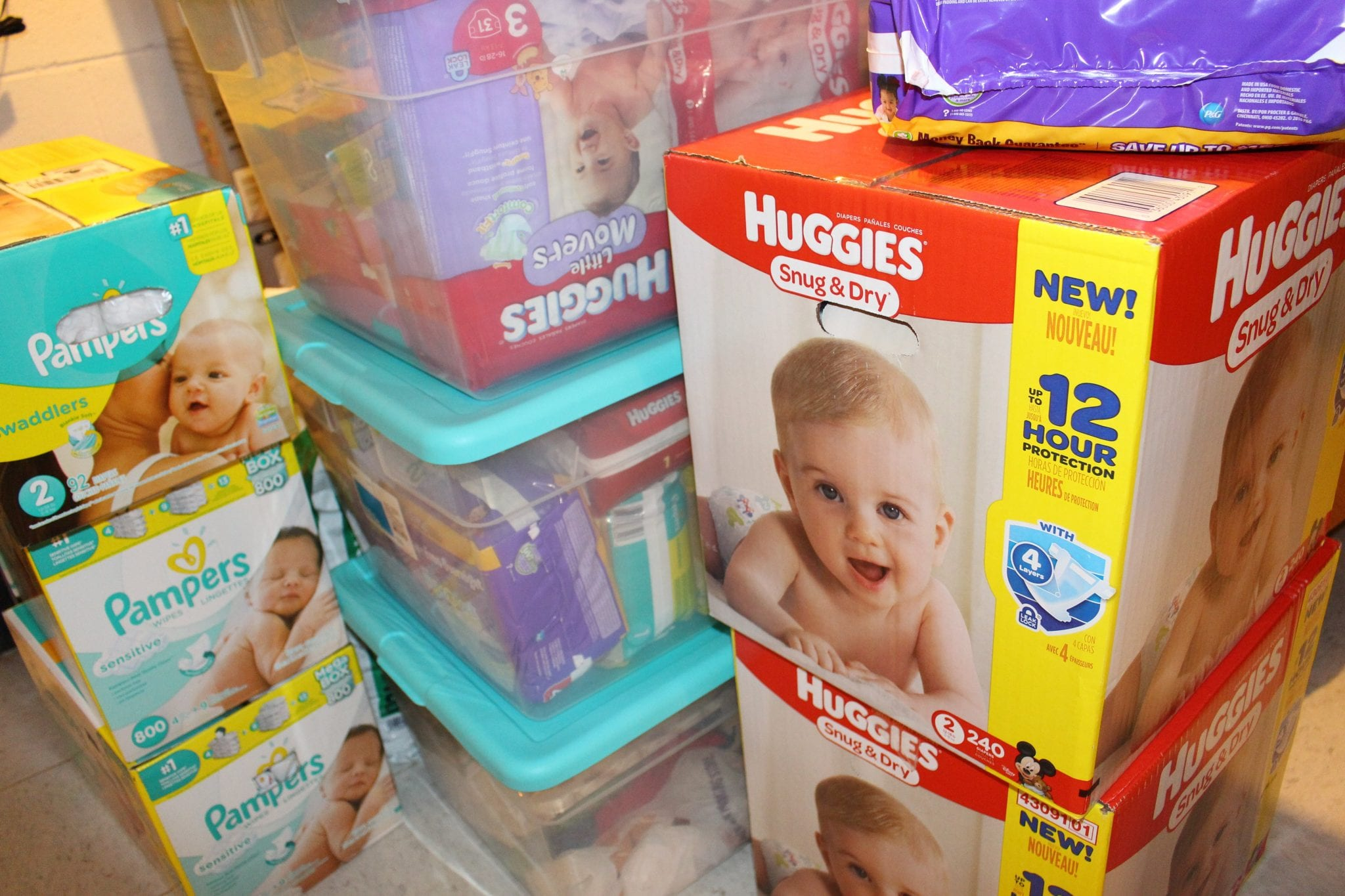 7 Ways to Build a Diaper Stockpile for Cheap or Free