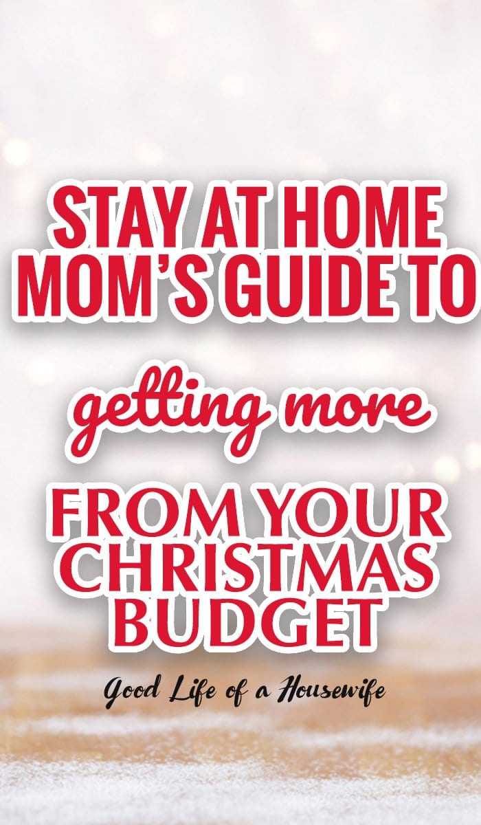 As a a stay at home mom, I had to get creative with how I was going to buy presents for Christmas and stay in budget.
