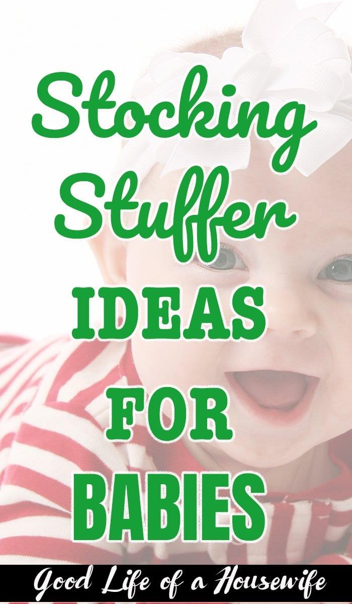 Stocking Stuffer Ideas for Babies #stockingstuffer