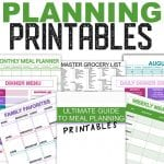 Family meal planning template and printables. How to be successfully meal plan for your family.