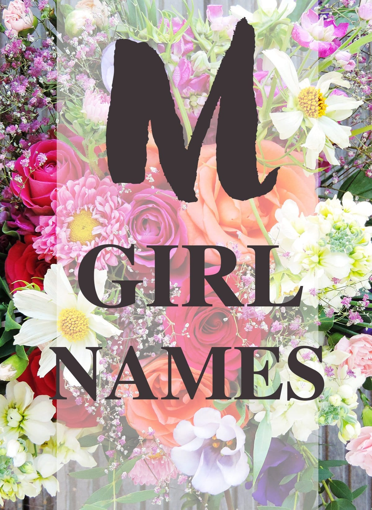 """Baby Girl Names that Start with """"M"""""""