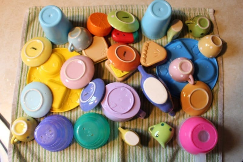 Before storing toys in baggies, I washed and dried Libby's toys.