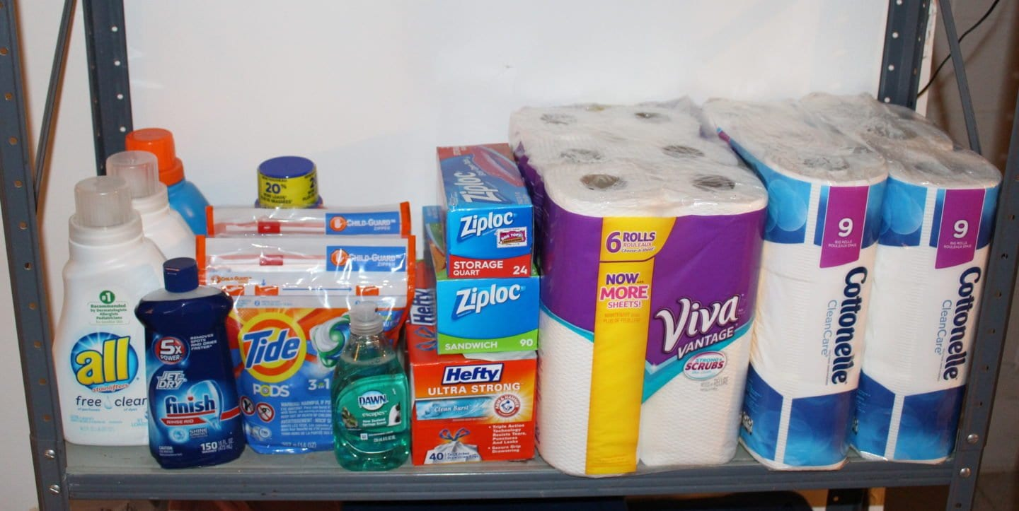 Before baby arrives you should stockpile all of the essentials. Here is a list of 22 household items to stockpile before baby arrives.