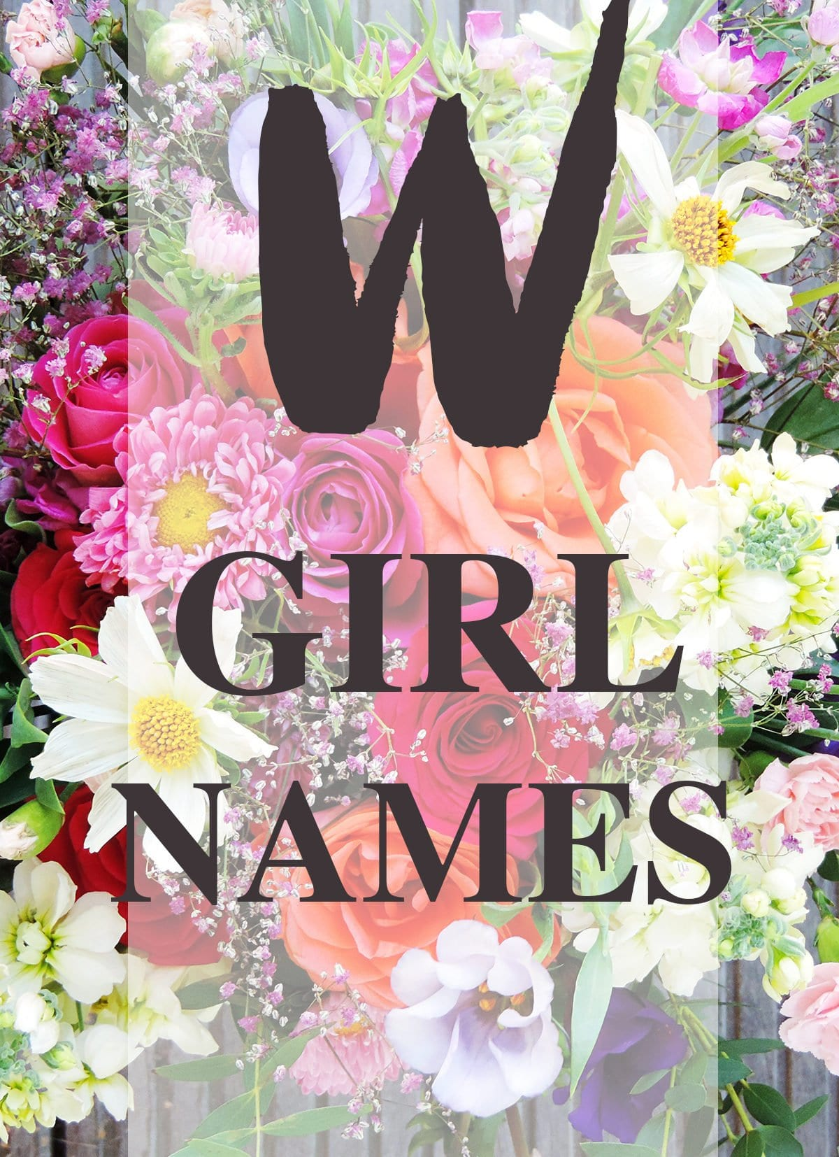 """Girl Names that Start with """"W"""""""
