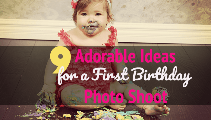 9 adorable ideas for a first birthday photo shoot for little girls. #smashcake #firstbirthday #firstbirthdayideas