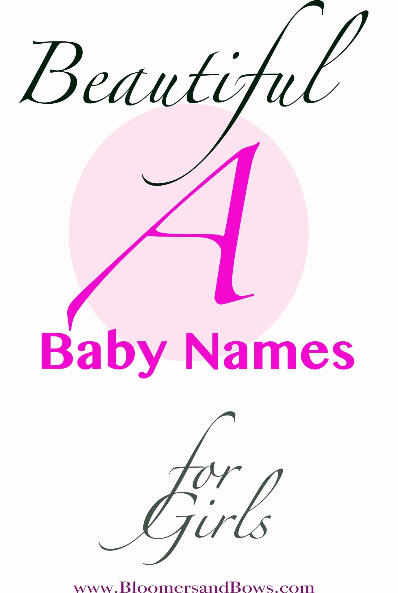 Beautiful Names that Start with A for a baby Girl #girlnames #babygirl #Anames
