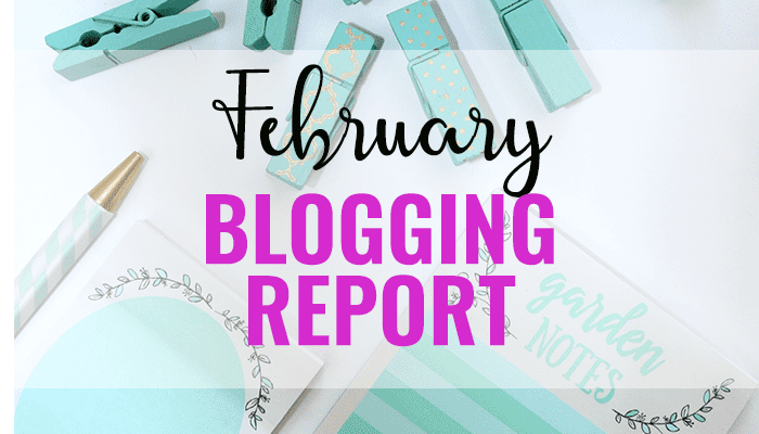 February blogging report for Good Life of a Housewife.