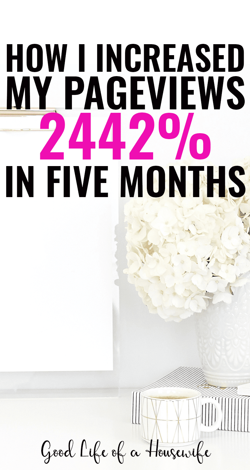 How I increased my page views 2442% in just five months. Having a plan and using these tools helped my explode my blog traffic.