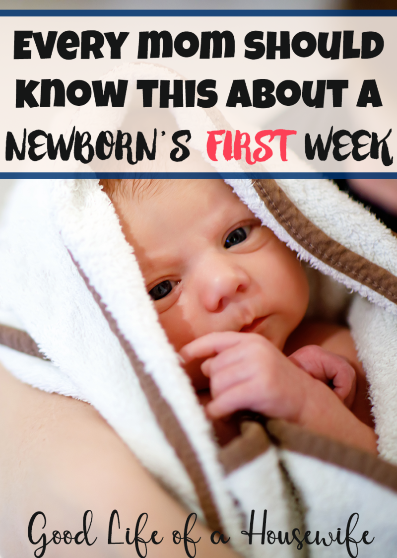Surviving the First Week with A Newborn. The important things you need to know. #newborn #baby