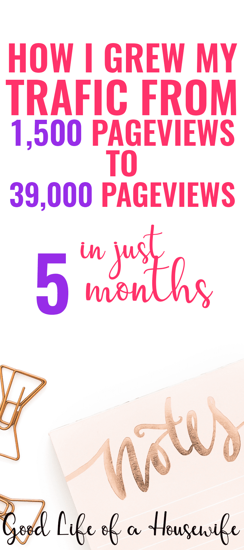 How I grew my traffic from 1500 page views to 39,000 page views in just five months