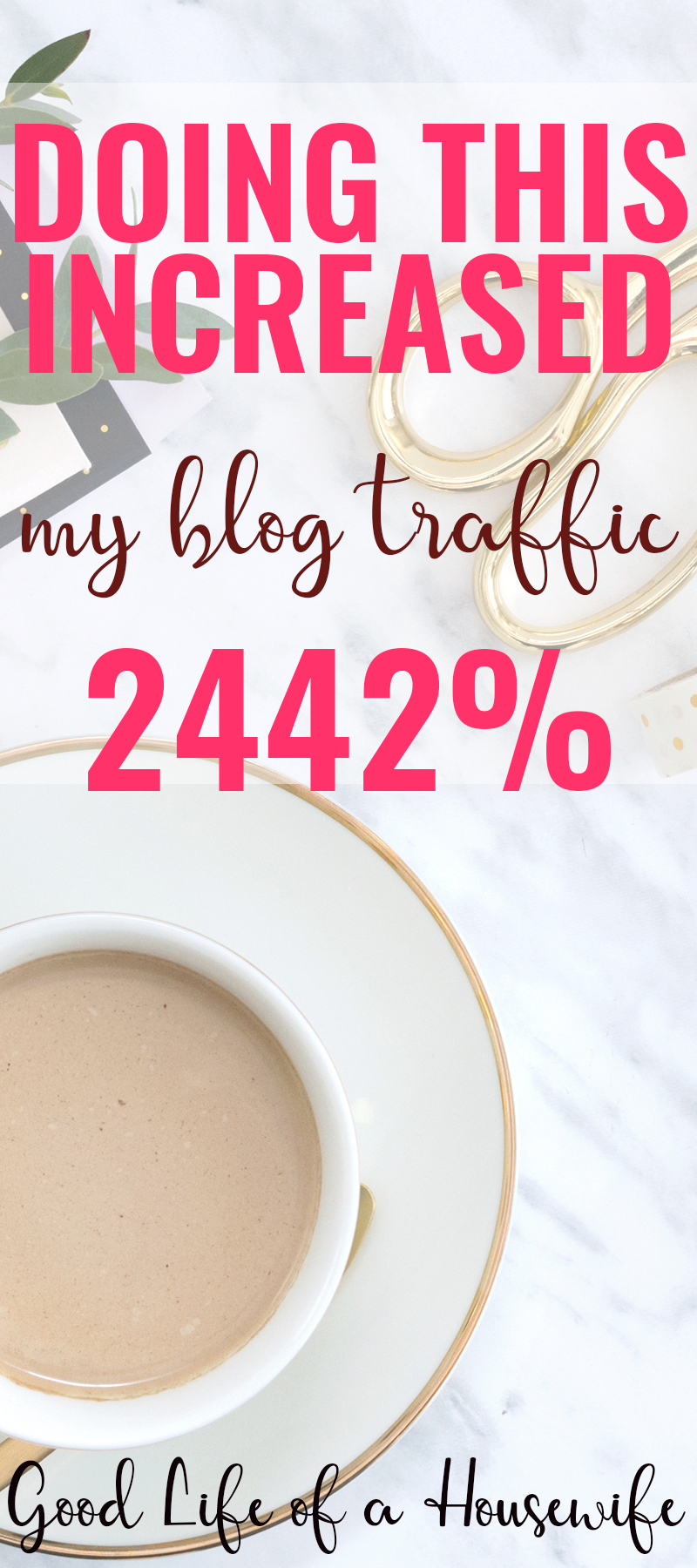 Doing this increased my blog traffic by 2442%. Taking a few steps helped me to grow my blog traffic in just five months.