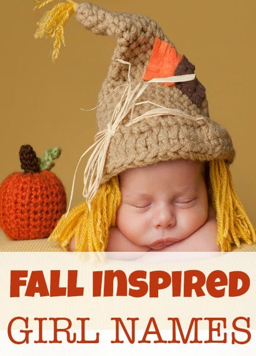32 Fall Inspired Unique Baby Girl Names