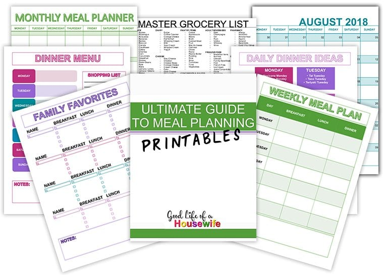 Meal Planning Printables and Templates