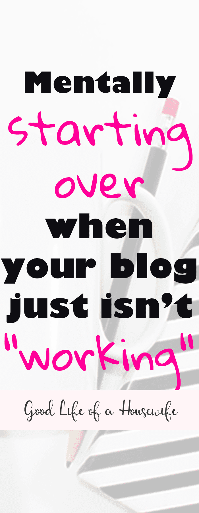 It's so easy to get blogger overwhelm. Especially when you poor your heart and time into your blog and it's a big flop. Sometimes you just need to a do-over. Here is what I did when I decided to mentally start over with my blog.