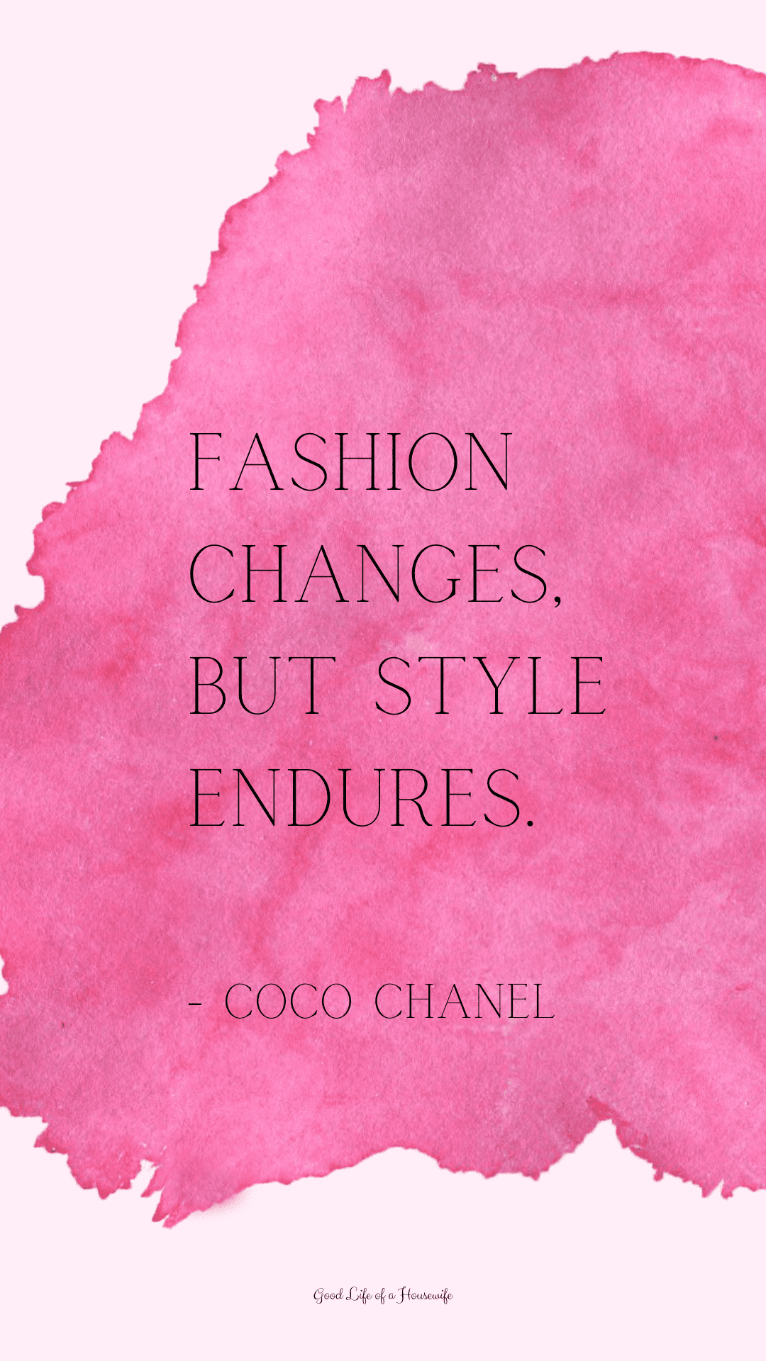 Coco Chanel inspired iPhone background - Good Life of a Housewife