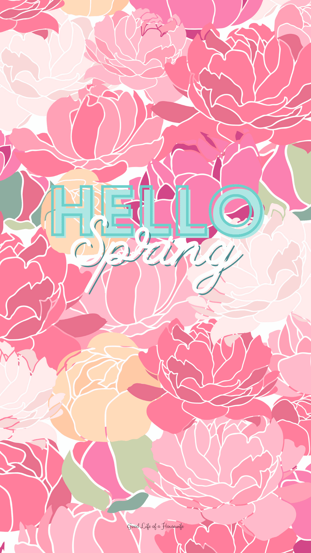 Hello Spring iPhone Wallpaper - Good lIfe of a Housewife