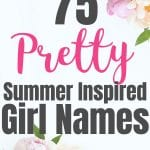 Girls names inspired by summer