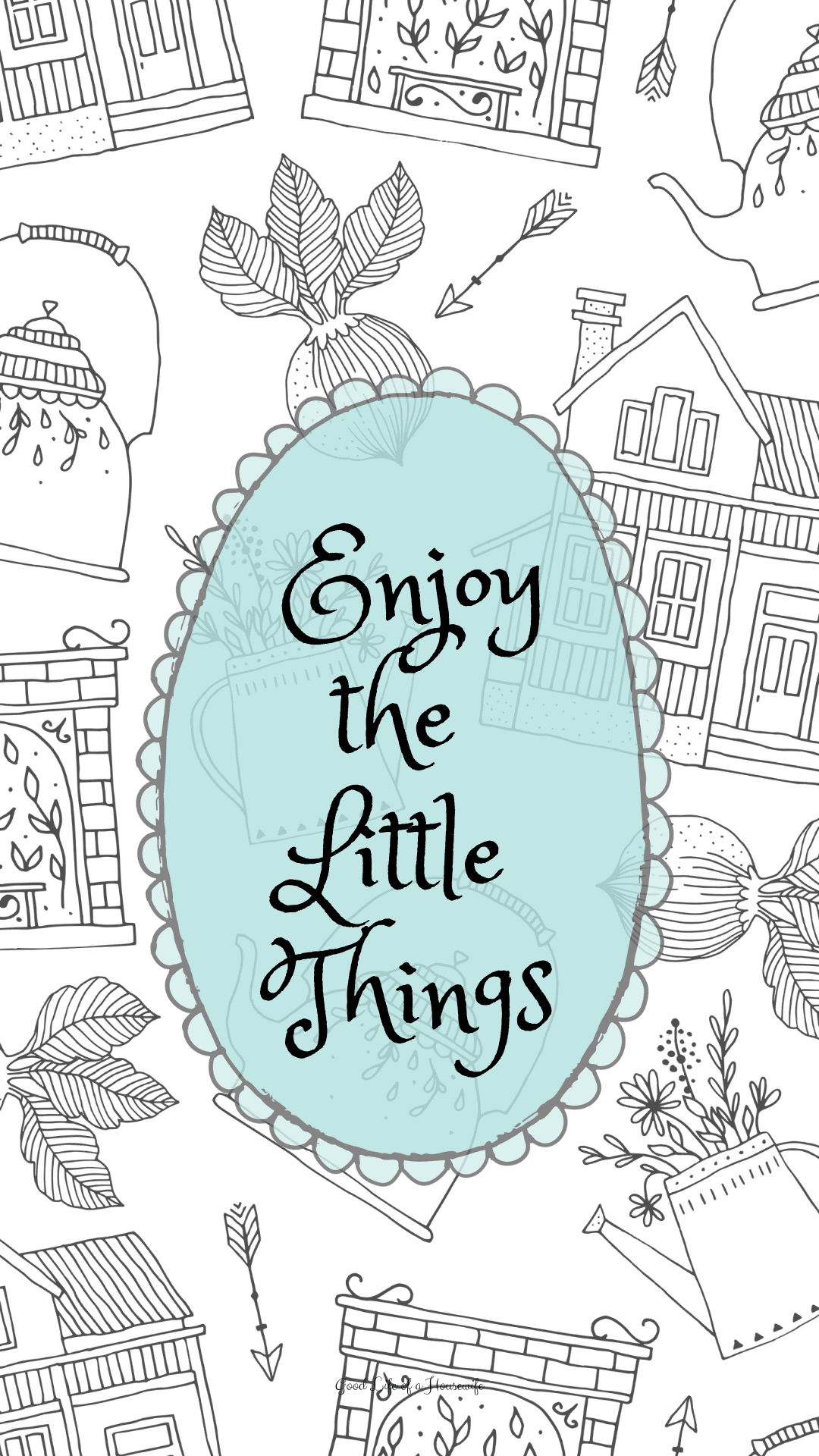 Enjoy the Little Things- Hygge inspired iPhone wallpaper backgrounds