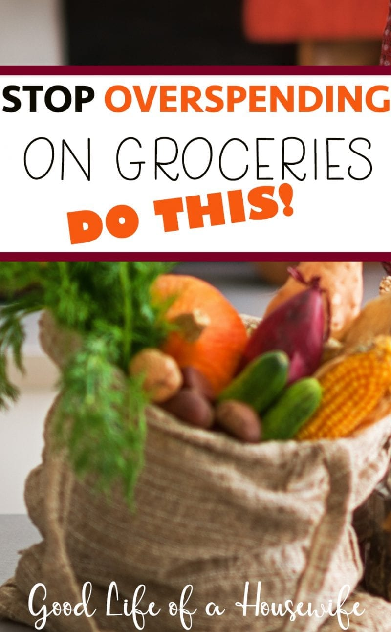 Save money on your groceries by meal planning.