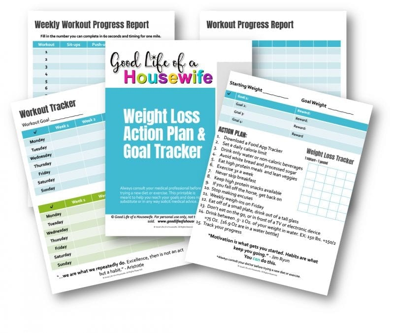 Weight Loss Action Plan & Goal Tracker