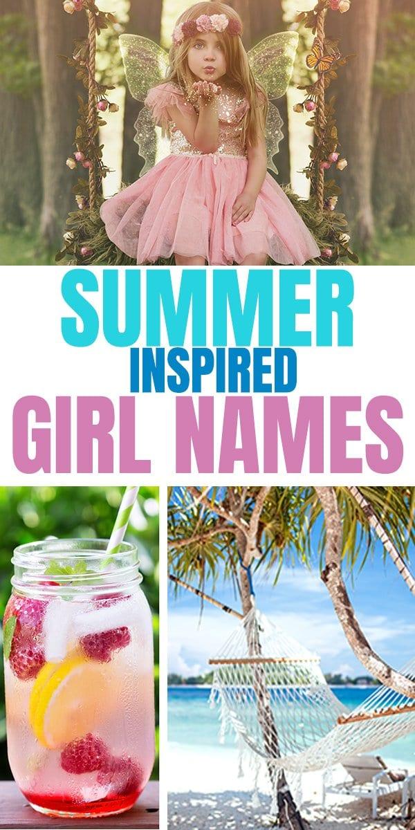 Summer inspired girl names