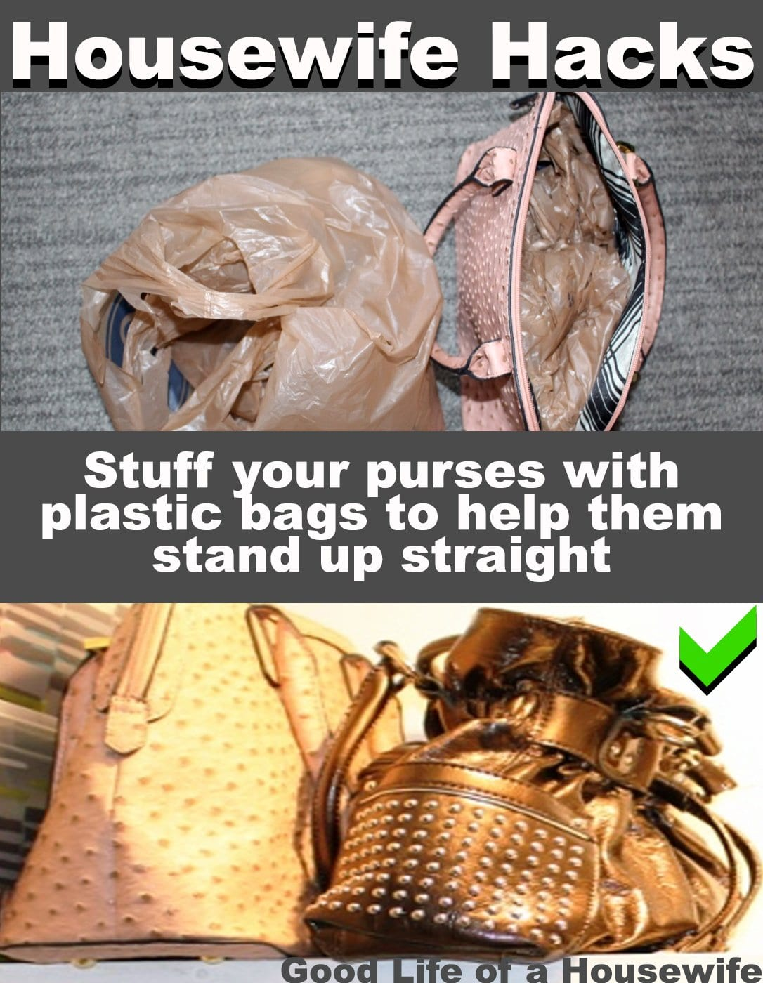 Easy ways to keep your purses looking neat in your closet