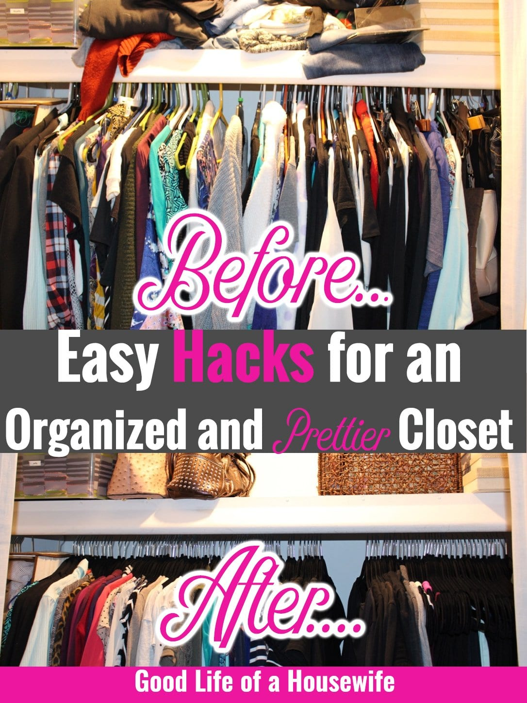 Easy Hacks for an organized and prettier closet